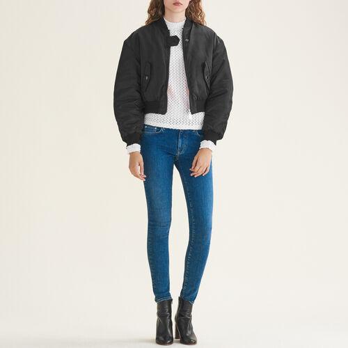Stretch cotton skinny jeans : Pants & Jeans color Blue