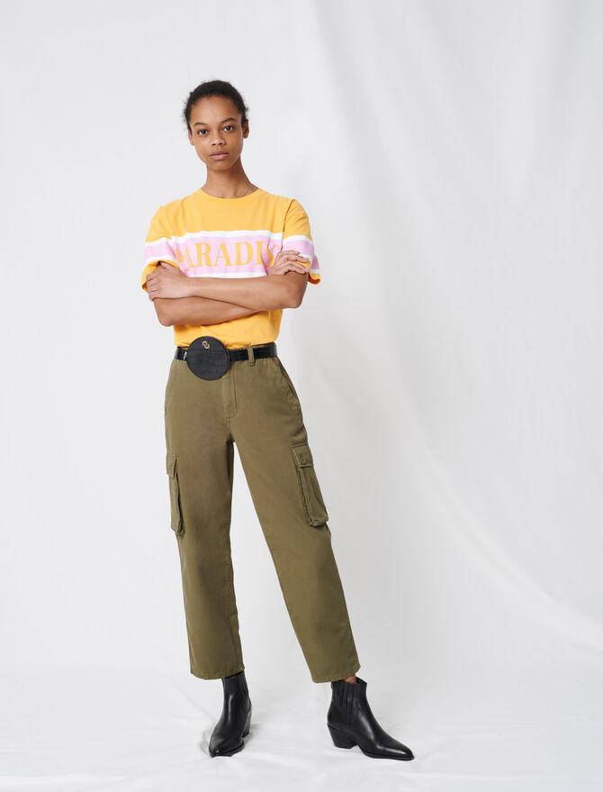 Cargo-style denim jeans - Sustainable Selection - MAJE