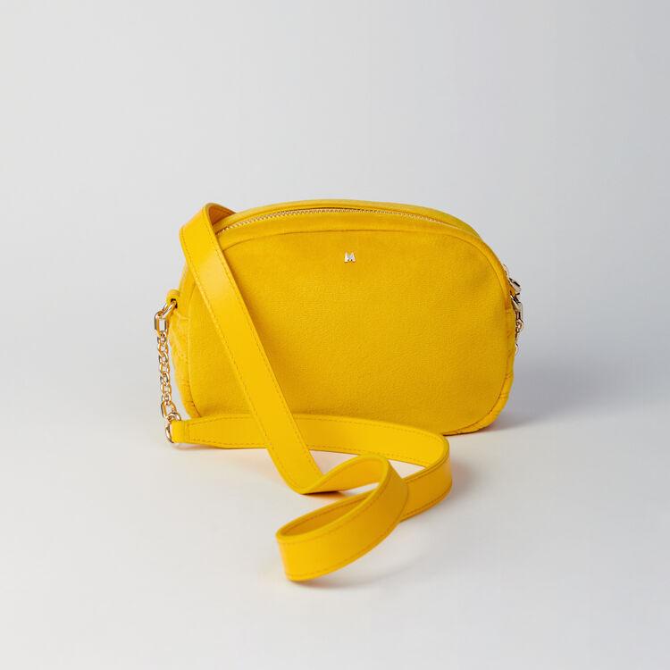 Quilted velvet shoulder bag : Camera Bag color Yellow