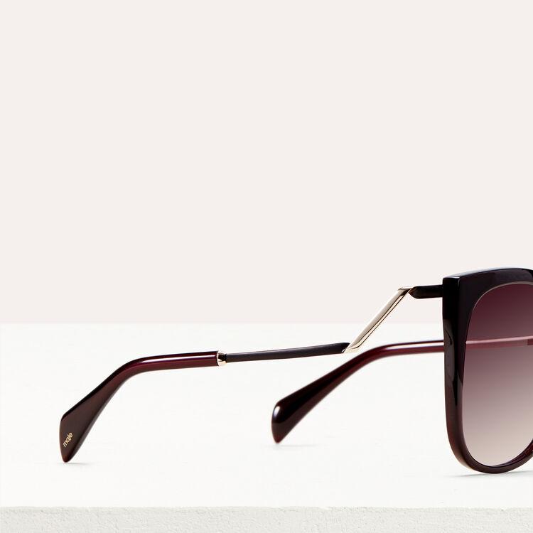 Retro sunglasses : Eyewear color Burgundy