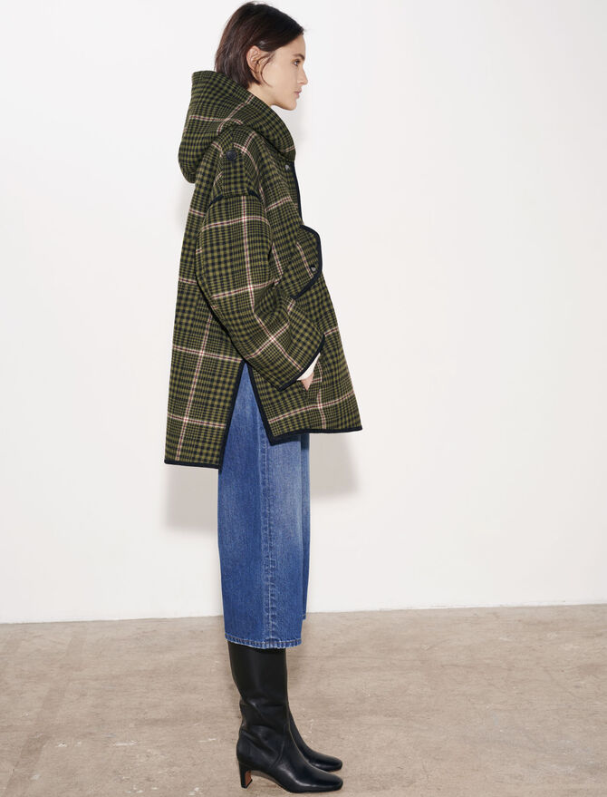 Checked oversize coat - The Essentials - MAJE