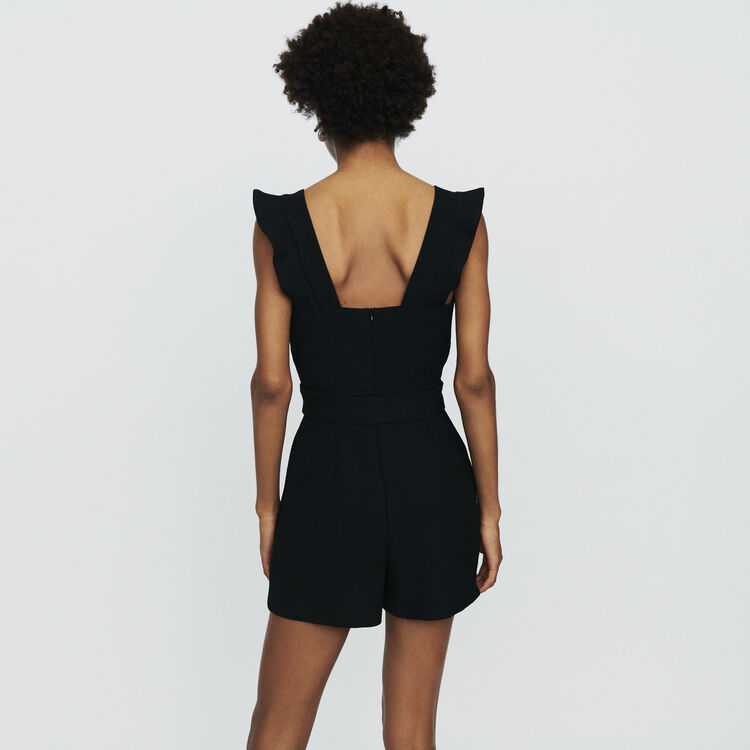 Crepe romper : Jumpsuits & Rompers color Black 210