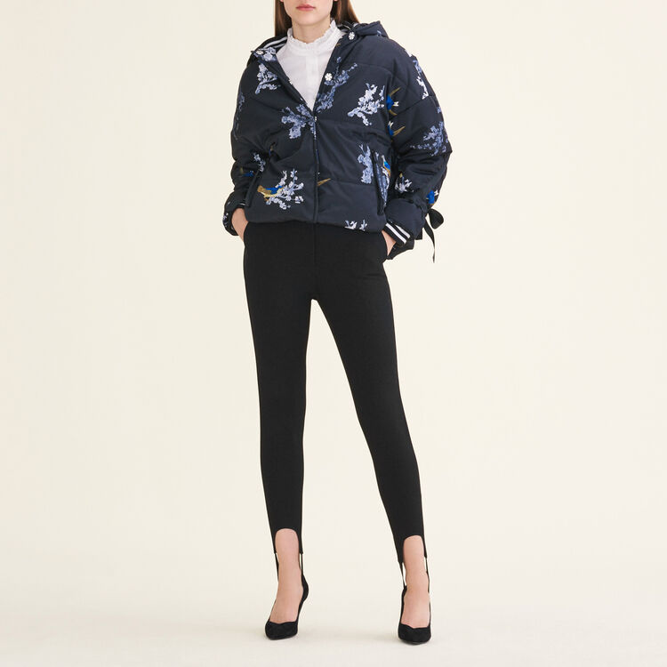 Cropped printed down jacket : null color