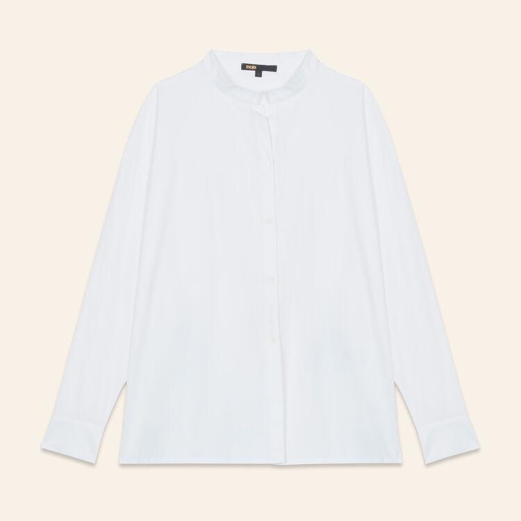 Asymmetric poplin shirt - Tops & T-Shirts - MAJE