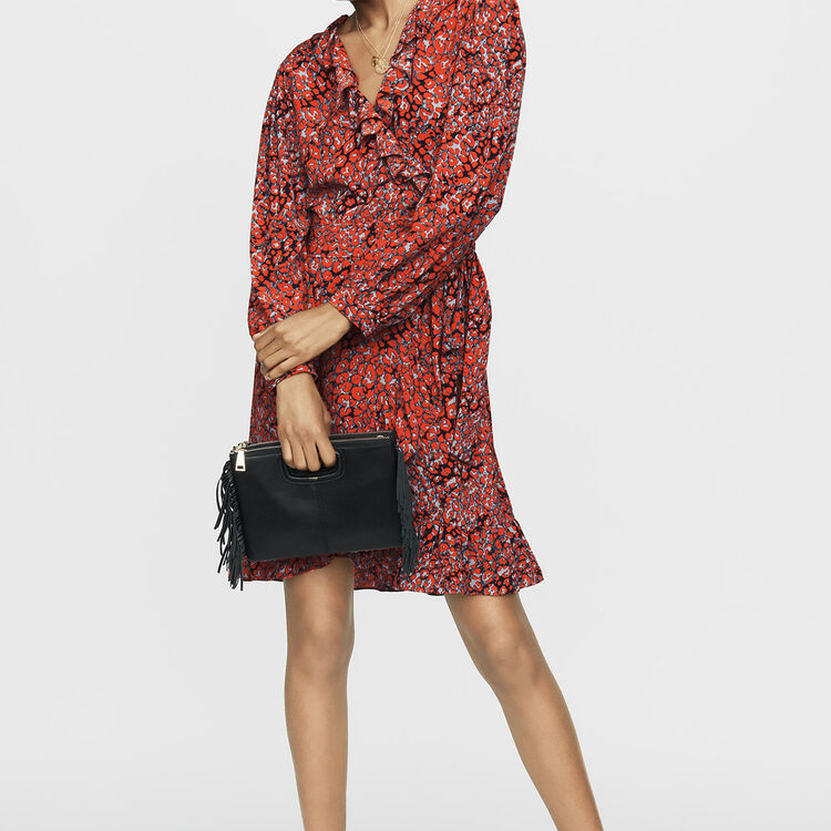 Leopard wrap dress : Dresses color PRINTED