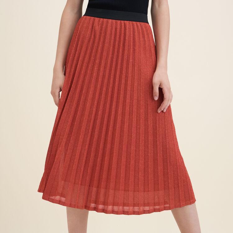 Lurex knit pleated skirt - Skirts & Shorts - MAJE