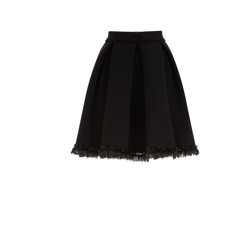 Crepe gored skirt with beaded details : Copy of Sale color