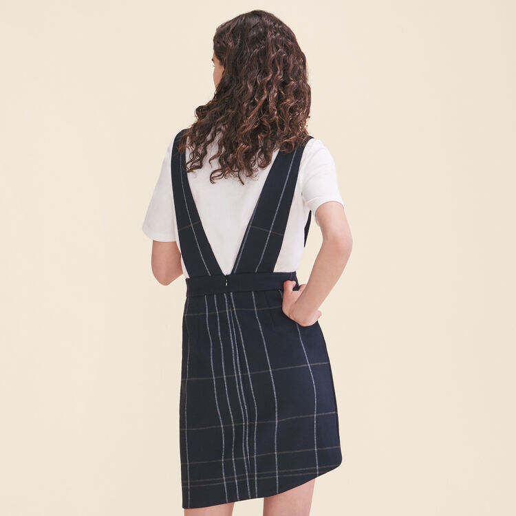 Tartan skirt with braces : Skirts & Shorts color Navy
