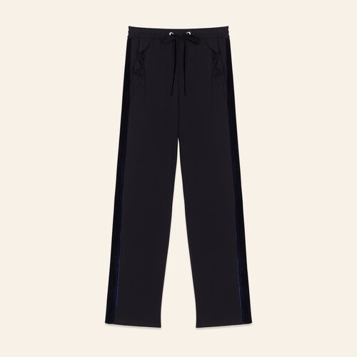 Straight-cut jogging-style trousers : Pants & Jeans color Black 210