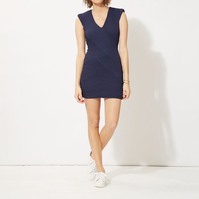 Pleated short-sleeved dress : Copy of Sale color