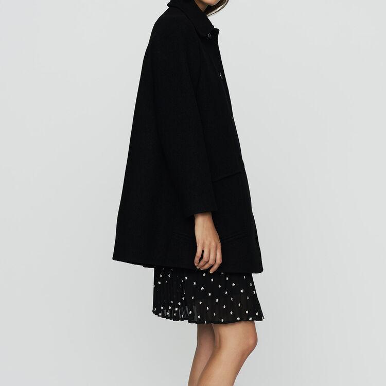 Wool trapeze coat : Coats & Jackets color Black 210