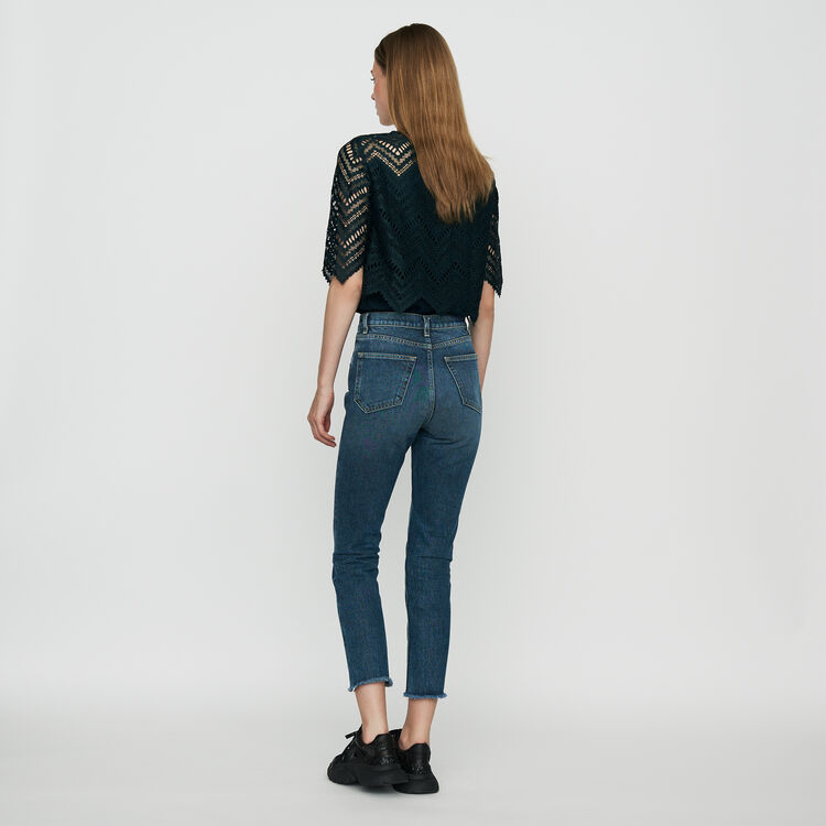 Straight, high-waist jeans : Pants & Jeans color Blue