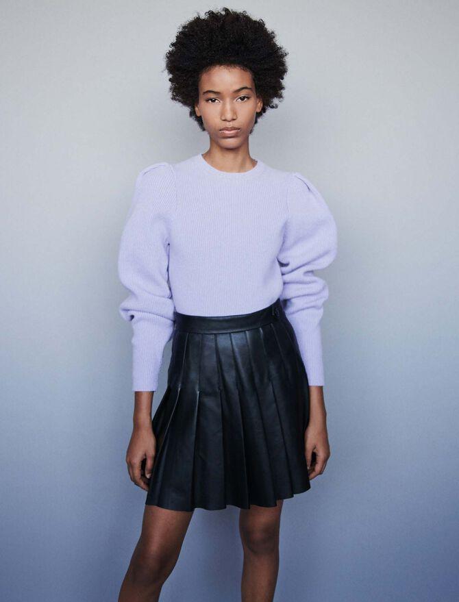 119jabaki Pleated Leather Skirt Skirts Amp Shorts Maje Com