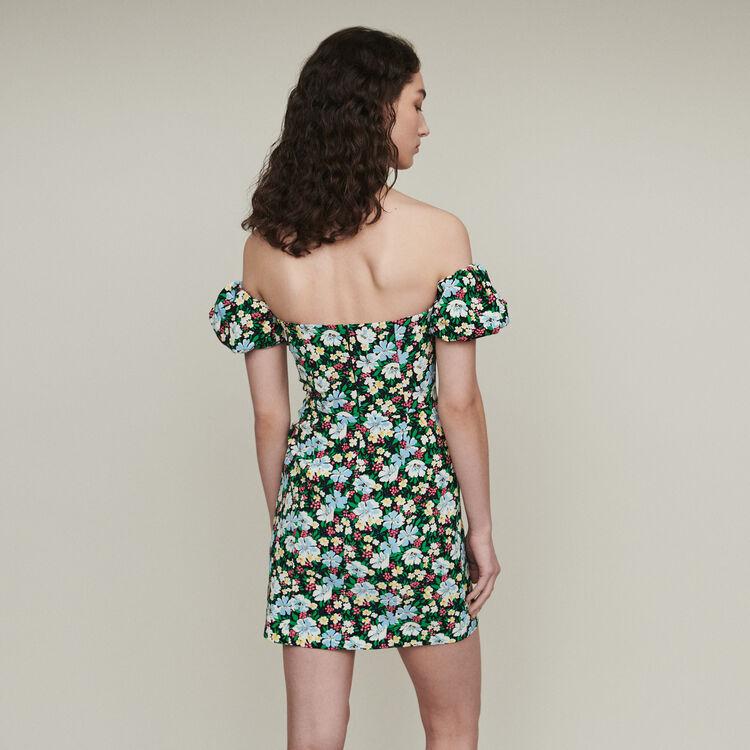 Floral off-the-shoulder dress : Dresses color Print