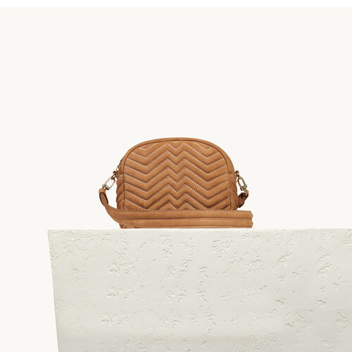 Round quilted leather bag - Shoes & Accessories - MAJE