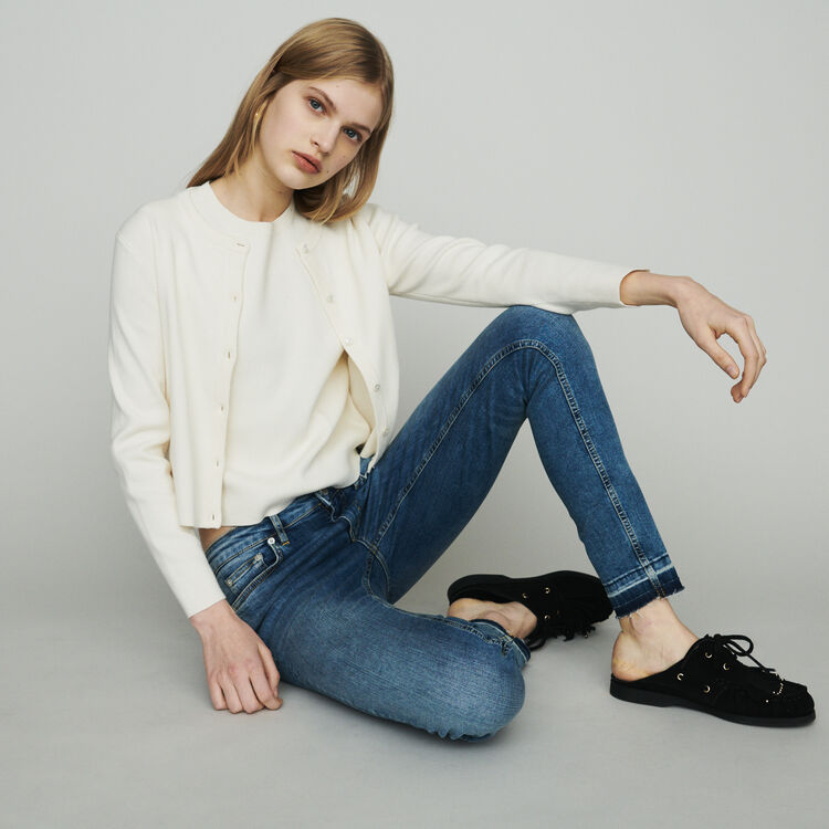 Slim jeans in stretch cotton : Pants & Jeans color Denim