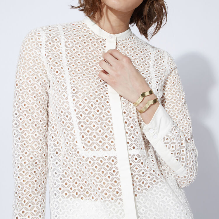 Long embroidered shirt : Copy of Sale color
