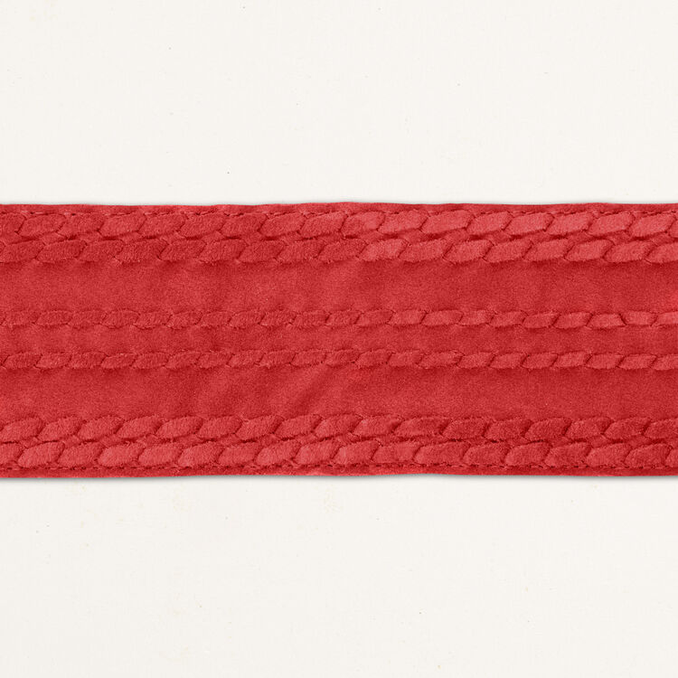 Wide suede belt : The Spring Essentials color Navy