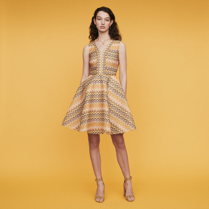 Striped knit skater dress : Dresses color Multico