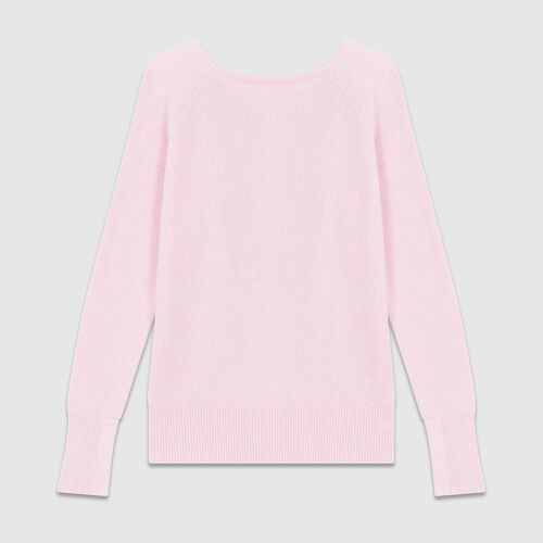 V-back sweater : Sweaters color PURPLE