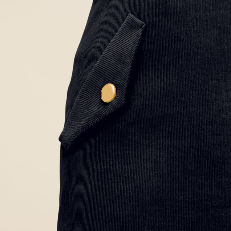 Short velvet skirt : Skirts & Shorts color Blue