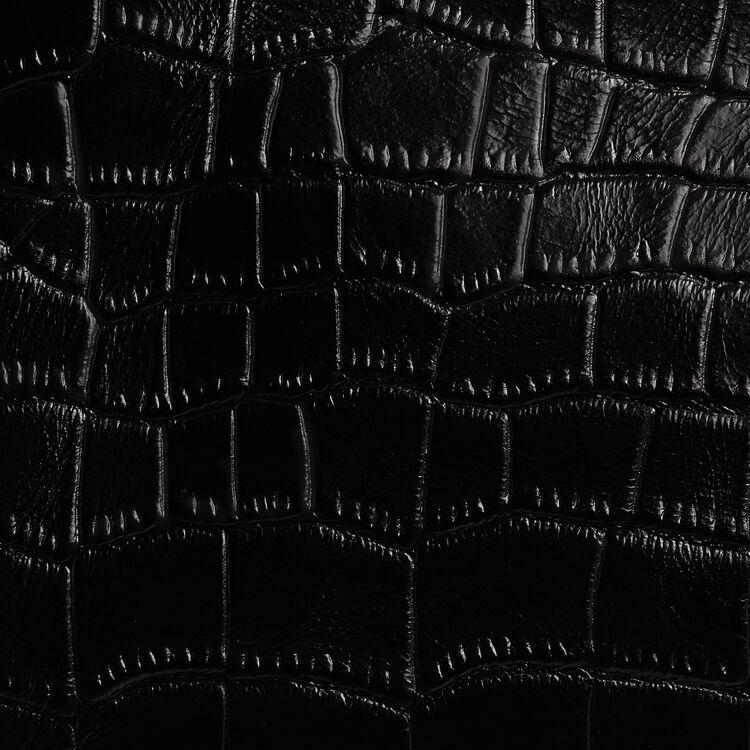 M Duo clutch in crocodile : M Duo color Black 210