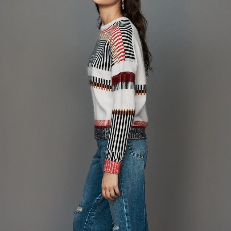 Oversize sweater in wool blend : Sweaters color Multico