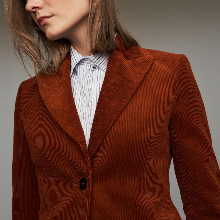 Corduroy suit jacket : Coats & Jackets color Caramel