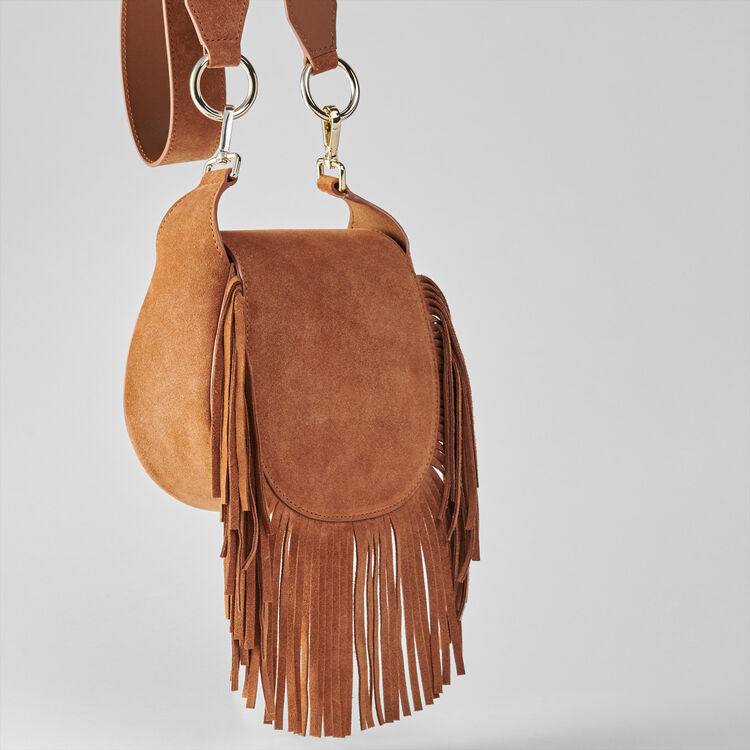 Suede fringe Gyps handbag : Other M color Cognac
