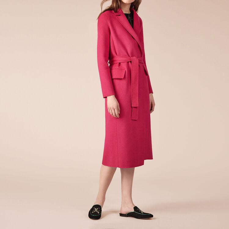 GEODE Wool-blend coat - Coats - Maje.com