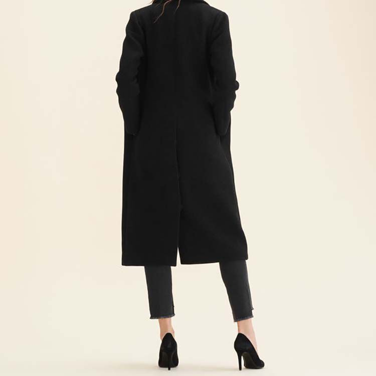 Long wool-blend coat : Coats & Jackets color Anthracite