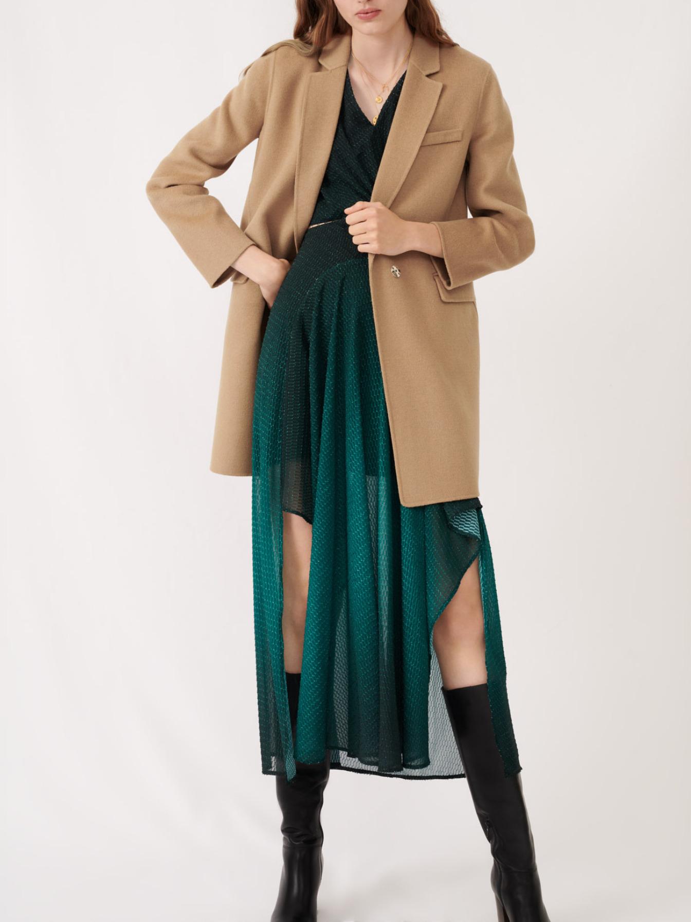 Maje Jacket-style double sided camel coat
