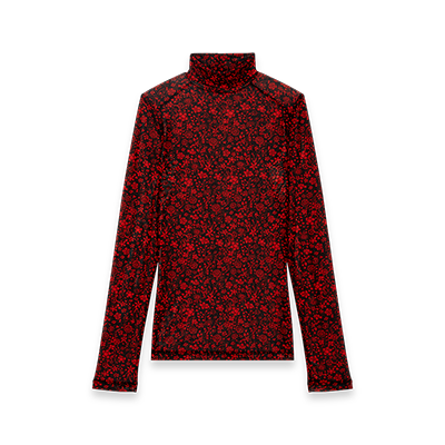 Floral print turtleneck top - Tops & T-Shirts - MAJE