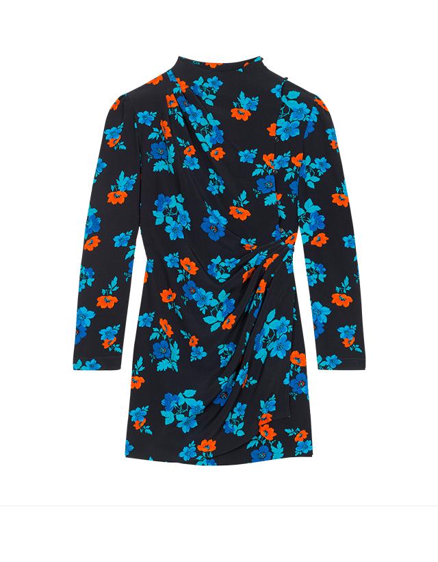 Printed wrapover dress - Dresses - MAJE
