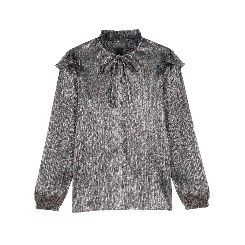 Lurex ruffled shirt - Tops & T-Shirts - MAJE