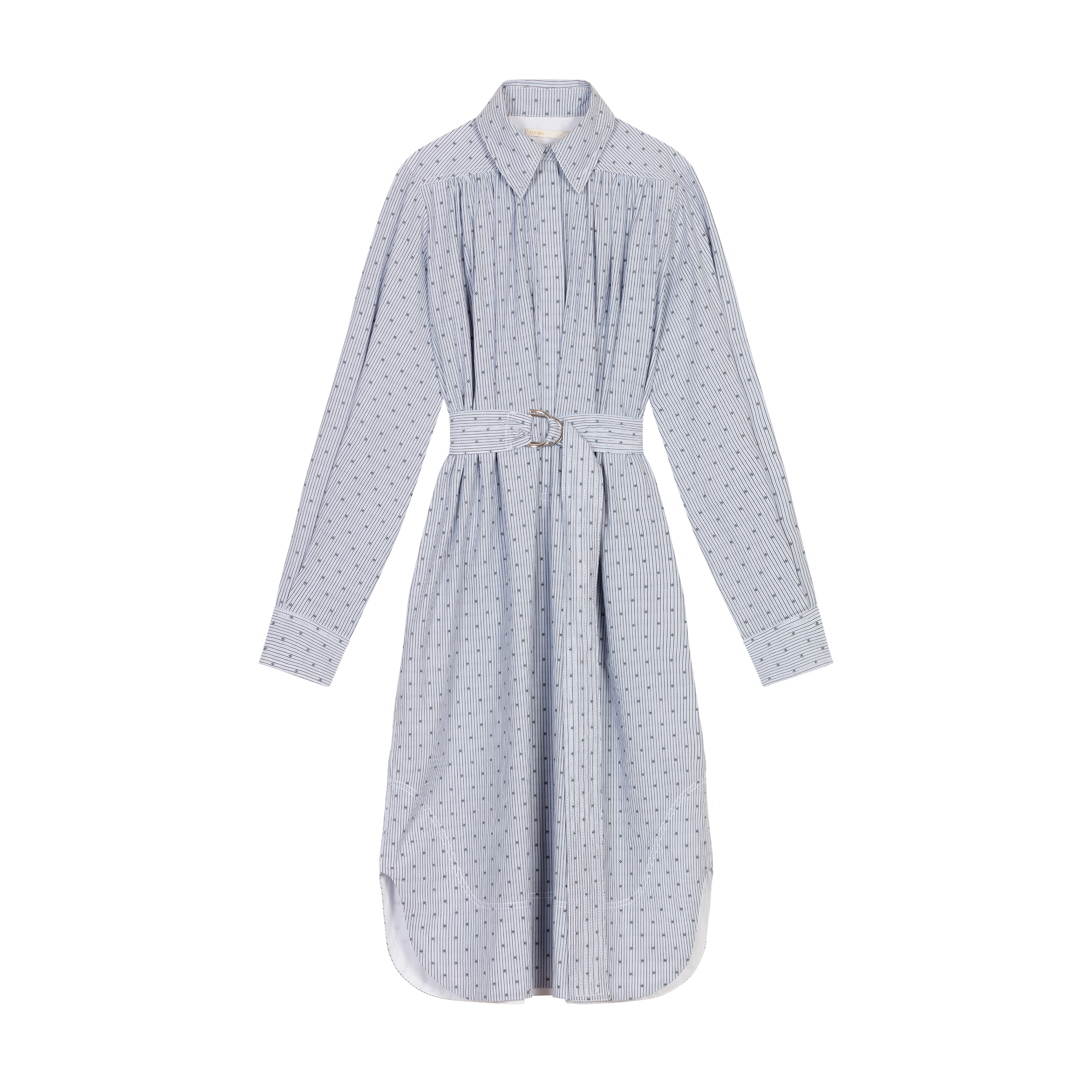 Shirt dress with embroidered stripes - Dresses - MAJE