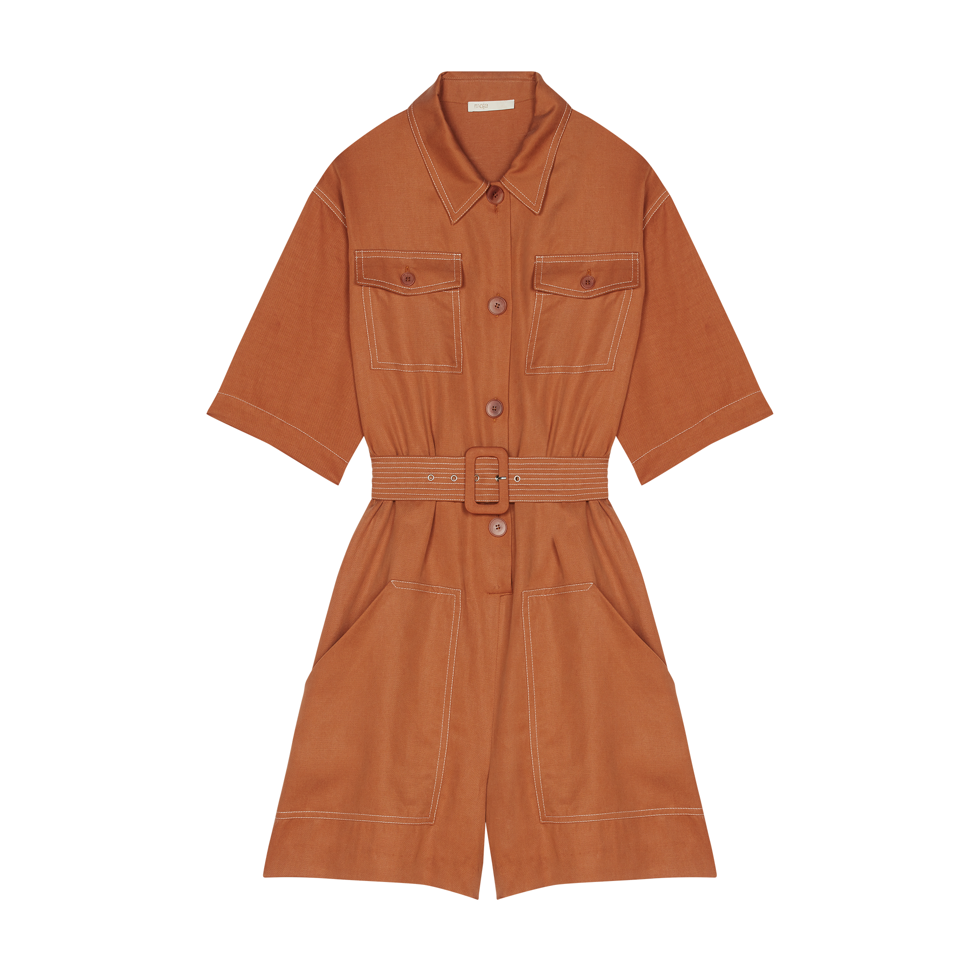 Shirt romper - Jumpsuits & Rompers - MAJE