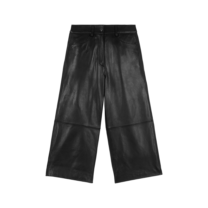 LEATHER CULLOTTE - Pants & Jeans - MAJE