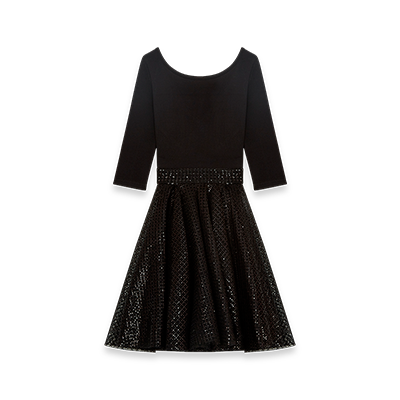 Jersey and sequin dress - Dresses - MAJE