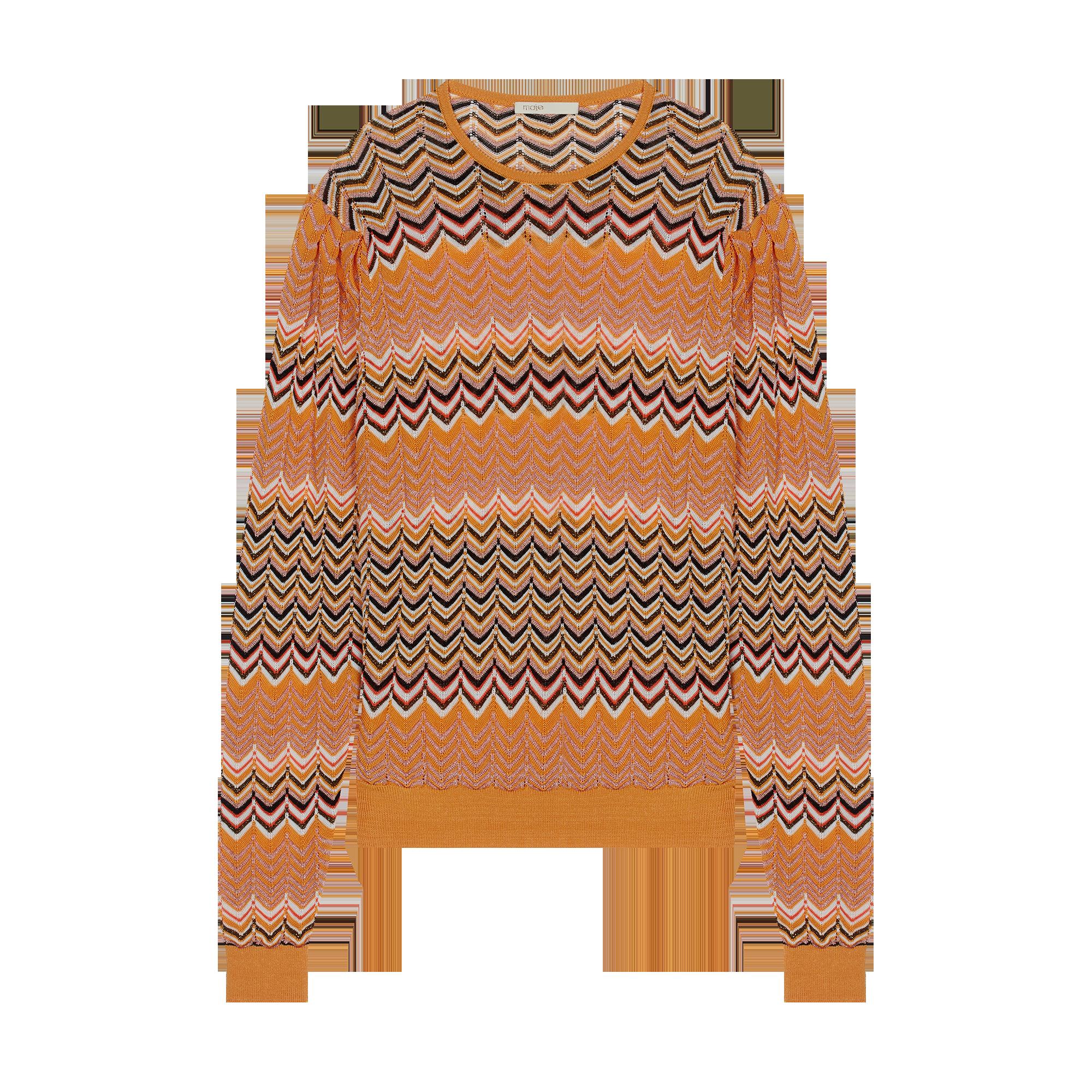 4341b9656e Sweater in zigzag knit - Sweaters - MAJE