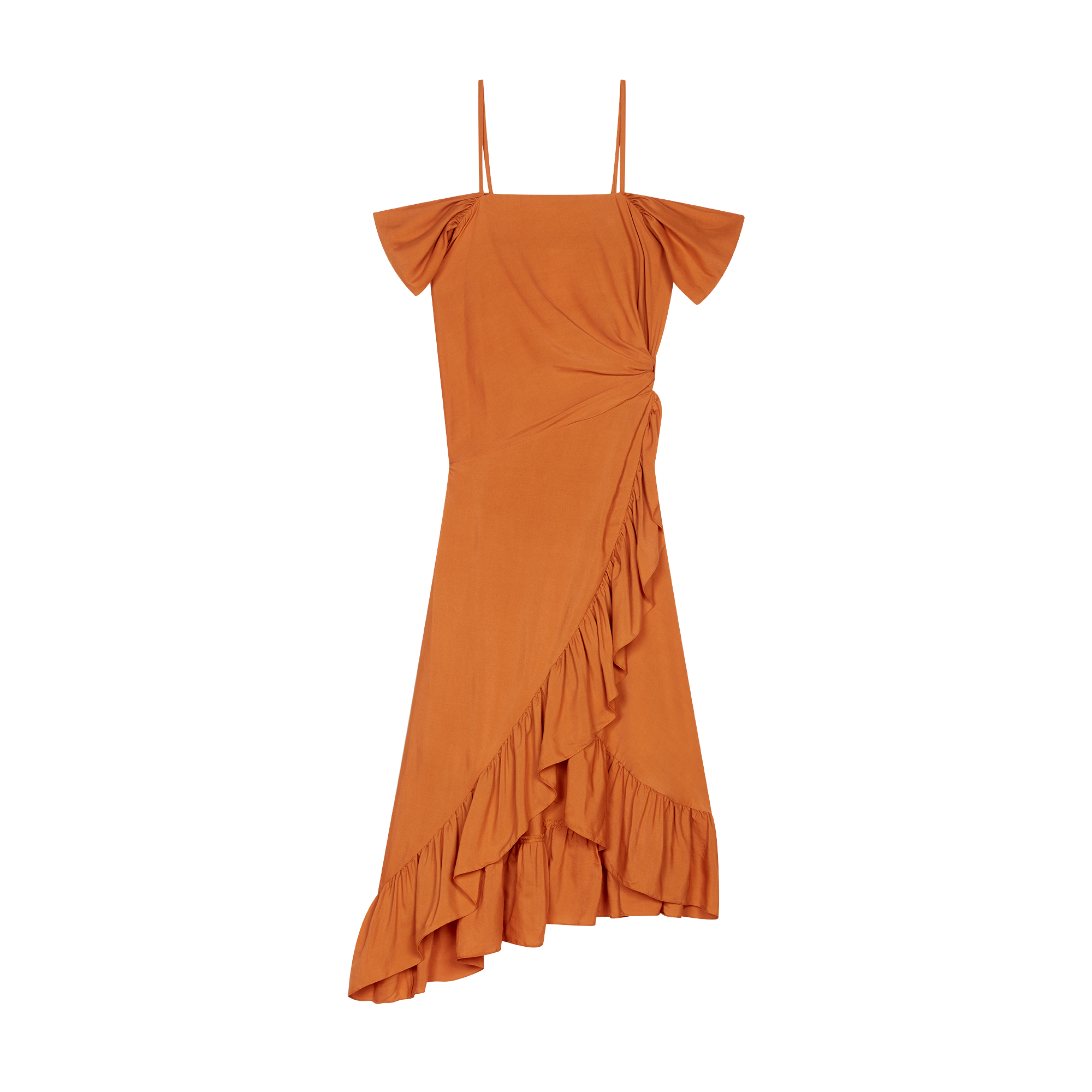 358bc13b3700c Midi dress with bare shoulders - Dresses - MAJE