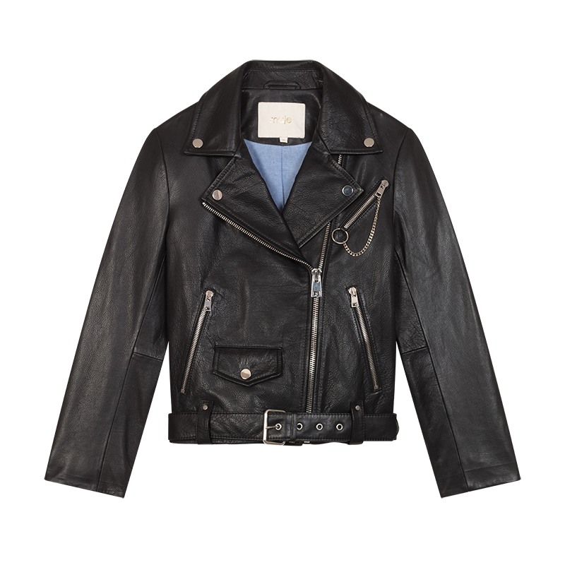 Biker leather jacket - Pre-collection - MAJE