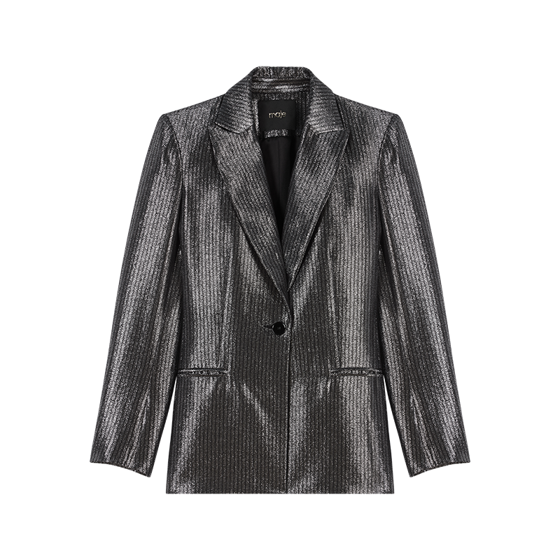 Lurex jacket - Coats & Jackets - MAJE