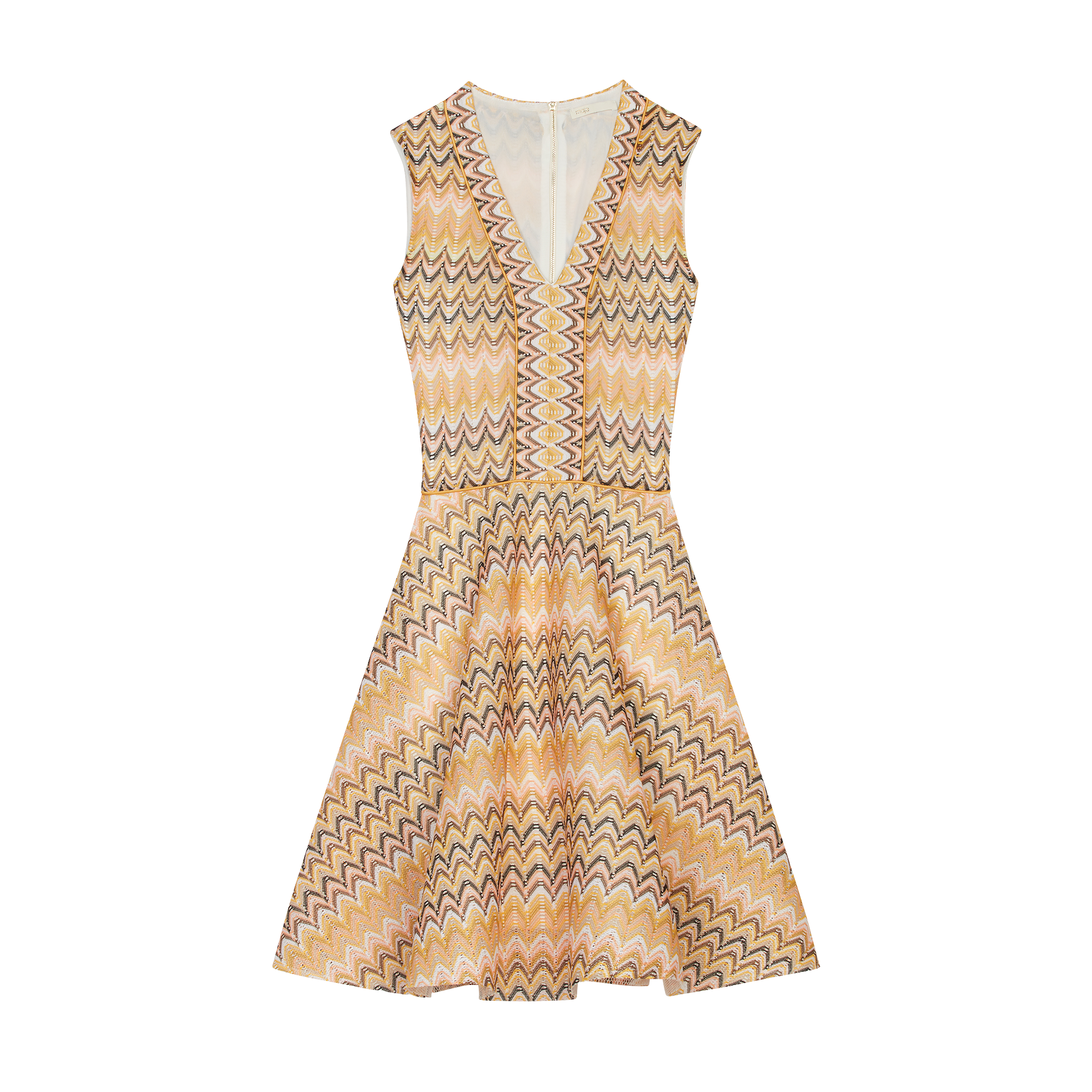 c6ef198461b9 Striped knit skater dress - The Essentials - MAJE