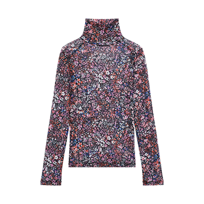 Mesh top with floral motif - Spring Pre-Collection - MAJE