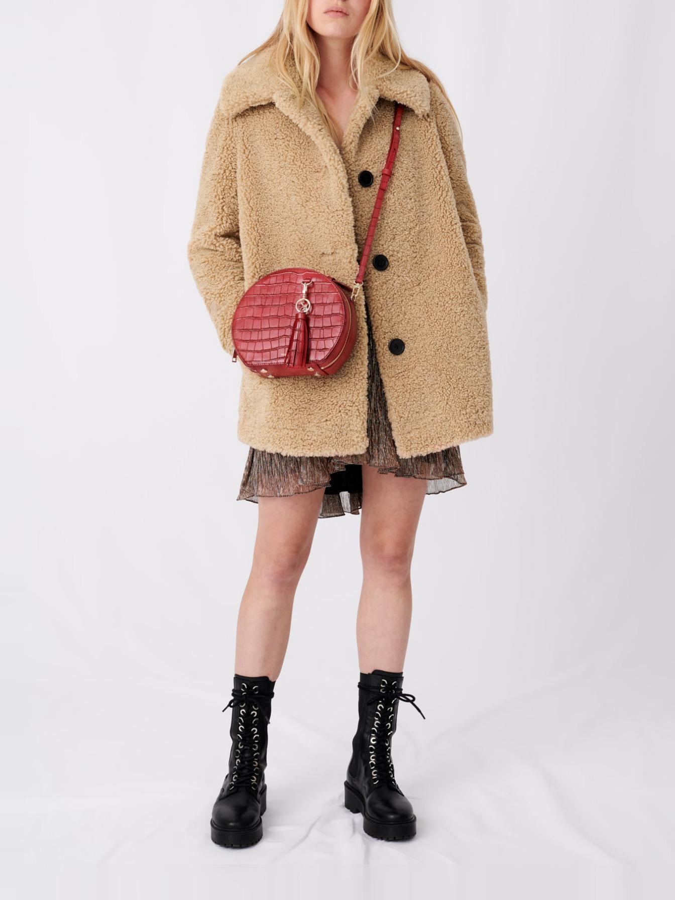 Maje Fur-effect coat