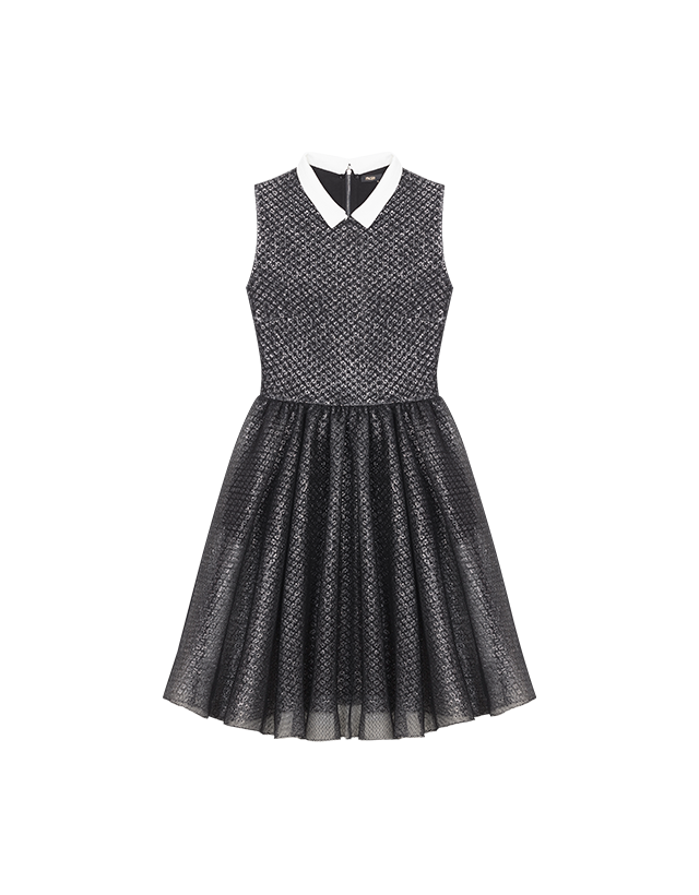 Tulle and Lurex sleeveless dress - Evening Capsule - MAJE