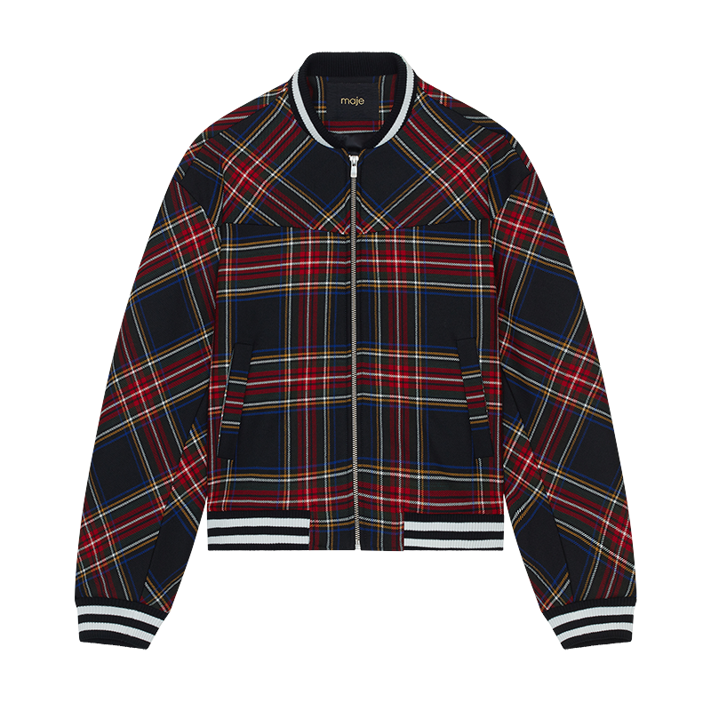 Plaid teddy - Coats & Jackets - MAJE
