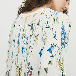 Pleated printed jewel top